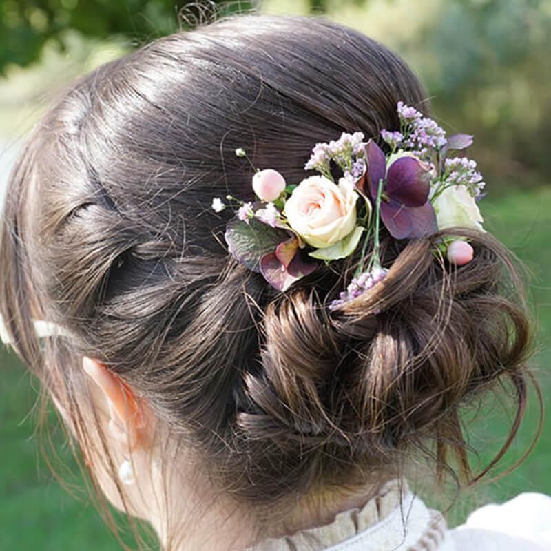 Haarstyling Frisur Variante 4 Haarschmuck - Salon Karin